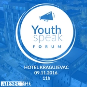 YOUTH SPEAK FORUM у Крагујевцу
